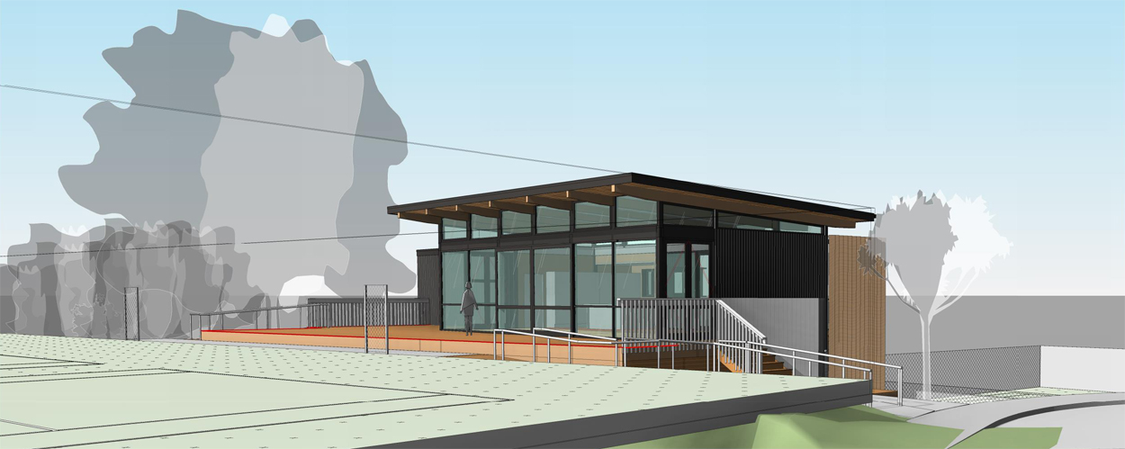 Milford Tennis Club - Proposed 3D Perspective