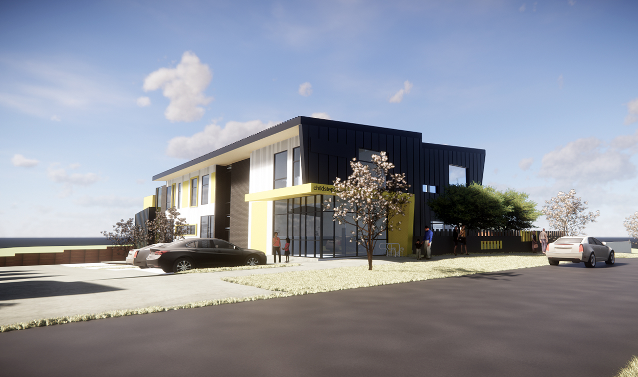 Merfield Childcare - Street front Render