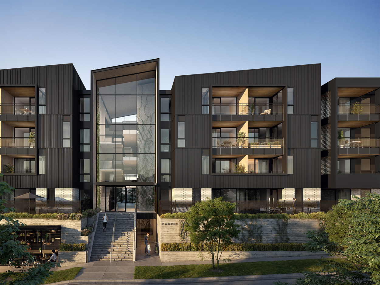 FABRIC Onehunga Apartments - Street facade